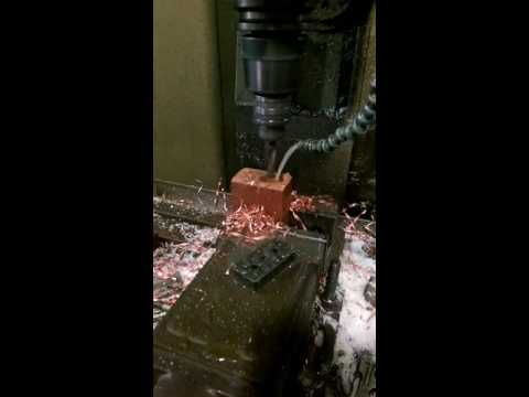 DRILLING COPPER IN CNC MACHINE