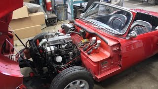 """1966 Triumph Spitfire MK2 - Recovery from spring """"maintenance"""""""