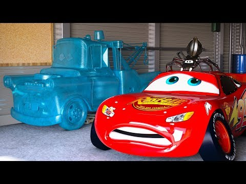 LIGHTNING MCQUEEN FREAKS OUT after seeing FROZEN Mater CARS Season 1 Full Movie Disney Pixar CGI