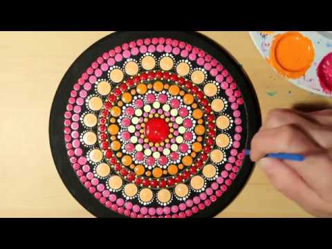 How To Paint Dot Mandalas Beginners Full Step By Step Tutorial #62 RINGS | Lydia May