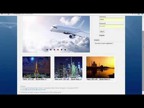 Airline Reservation System in HTML, PHP, JavaScript