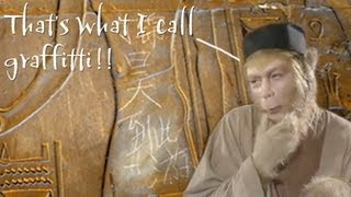 Chinese Graffiti Defaces Egyptian Temple (China in the News)   Learn Chinese Now