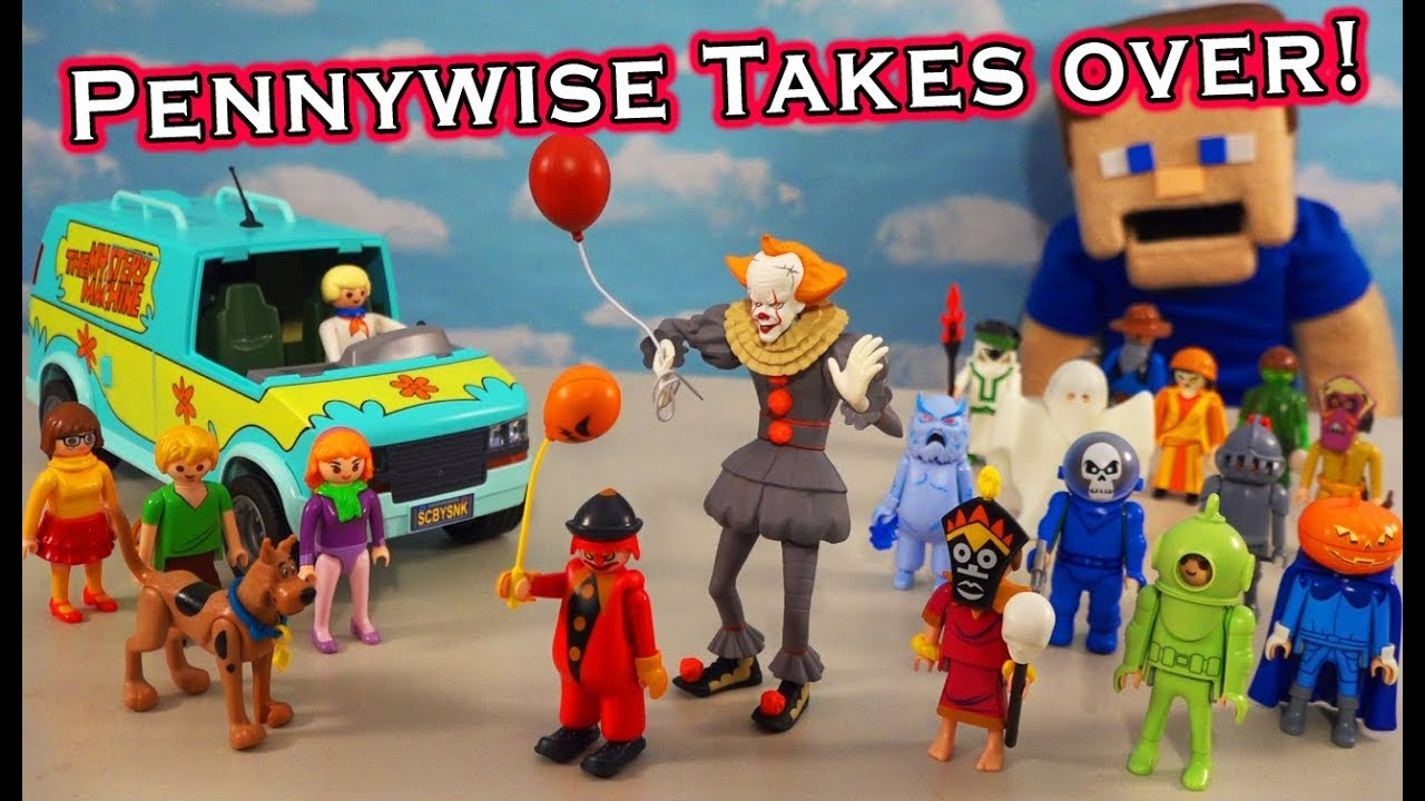 Scooby Doo vs. PENNYWISE & Villain MONSTERS! Playmobil Blind Bag Unboxing