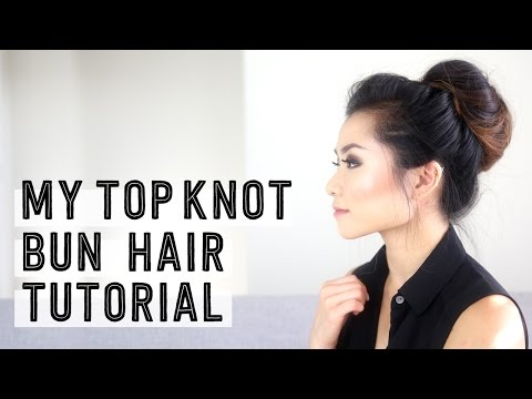 My Top Knot Messy Bun Hair Tutorial   Casual Updo Style   Miss Louie