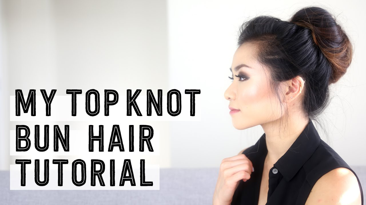 My Top Knot Messy Bun Hair Tutorial   Casual Updo Style   Miss Louie ...
