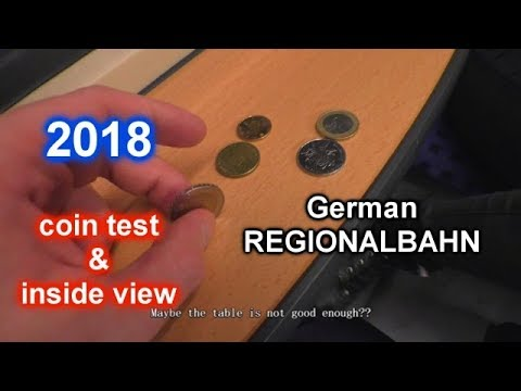 German Regional Train (Regionalbahn) - Inside View + NEW Coin Test - 德国的区域火车里面 - 硬币试验