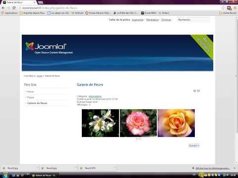 Mise en oeuvre d'une galerie d'image avec Sigplus et Joomla 2.5