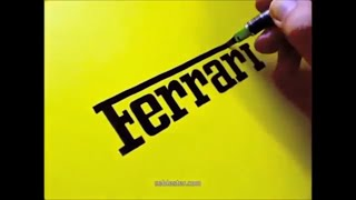 Artist Draws Famous Logos By Hand Seb Lester #2   YouTube