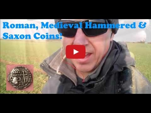 Metal Detecting a Saxon Silver sceat, Roman coins and loads of hammereds