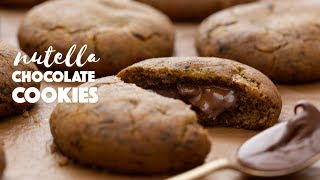 Nutella Stuffed Chocolate Cookies | The Cookie Of Your Dreams