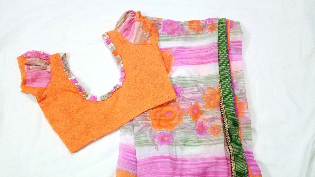 Blouse Back Cutting and Stitching Use Saree Cloth for Back Neck Design  Tailoring Classes c7ef2be364