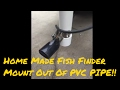 How to Build Home made fish finder mount out of PVC Pipe/ Robertson Fishing Report