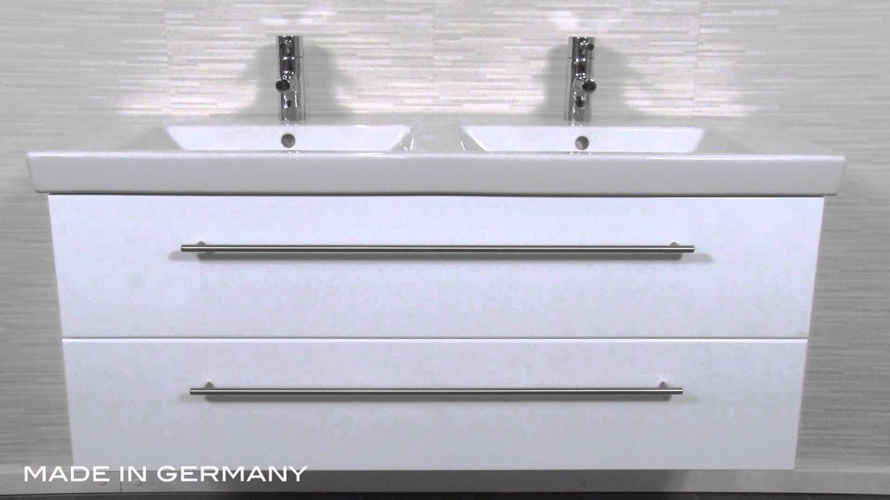 badm belset villeroy und boch subway 2 0 130 cm doppel weiss hochglanz youtube. Black Bedroom Furniture Sets. Home Design Ideas