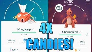 Pokemon GO - HOW TO EARN 4X BUDDY POKEMON CANDY!