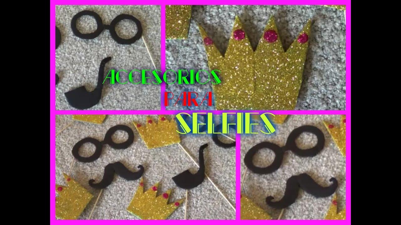 Diy decoraciones para selfies gersaly youtube - Decoracion de marcos para fotos ...