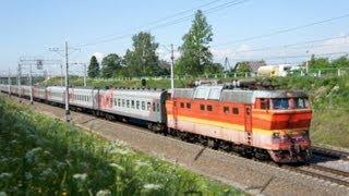 SKODA ЧС2т-1043 с поездом №131 СПб-Ижевск (RZD) Поповка