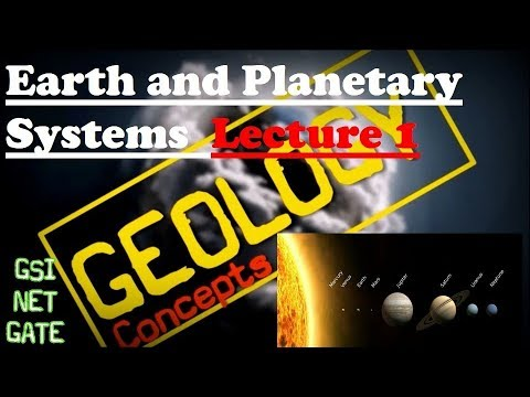 Earth and Planetary system | Terrestrial Planets | Geology C