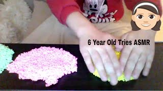 ASMR - Kid Tries ASMR For The  First Time - Tapping, Scratching & Playing With Squishy Foam