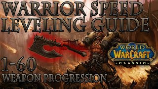 Classic WoW: Warrior Speed Leveling Guide | Weapon Progression | Talents | Macros | Add-ons |