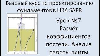 Базовый курс по проектированию фундаментов в Lira Sapr Урок 7
