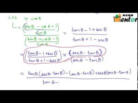 10.8.10 Example problems on Trigonometric Identities - Class 10 CBSE