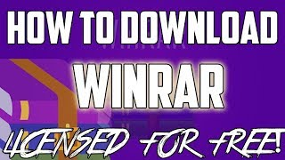 Gambar cover How to Download WinRAR for FREE (Licensed)