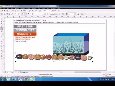 COREL DRAW TUTORIAL, CREATING AQUARIUM.avi