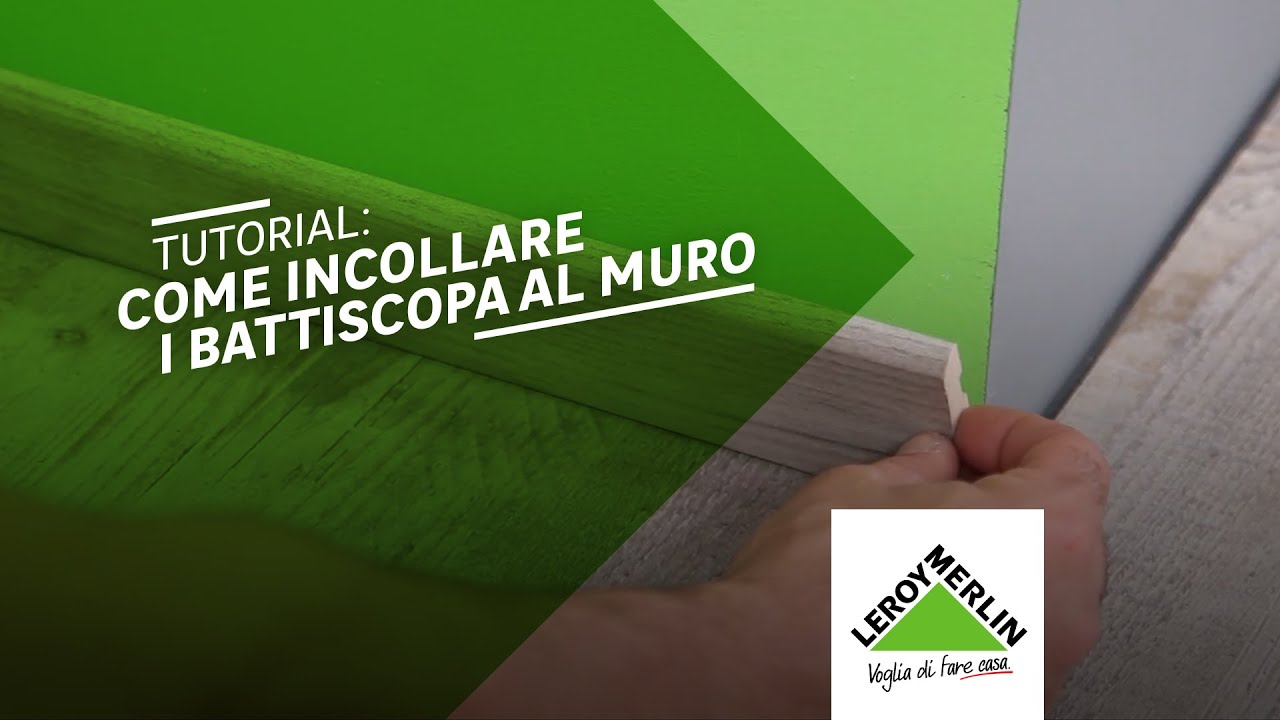 Battiscopa Legno Bianco Alto tutorial: come incollare i battiscopa al muro| leroy merlin
