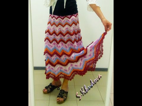 Фото юбка вязаная крючком
