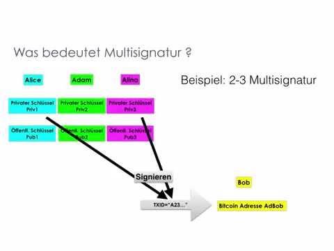 Bitcoin – ABC – Deutsch - Praxis 2 - Multisignatur- Transaktionen  [2015]