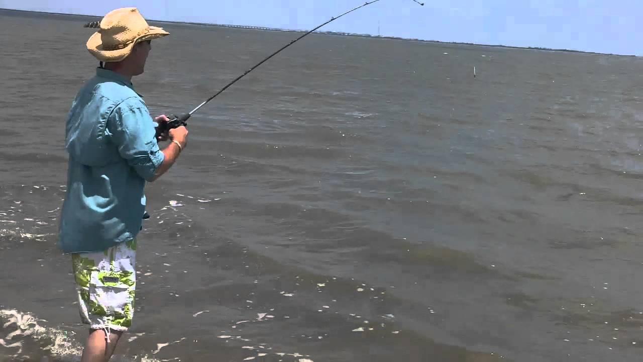 Fishing 1 at san louis pass texas gulf coast youtube for Texas coast fishing