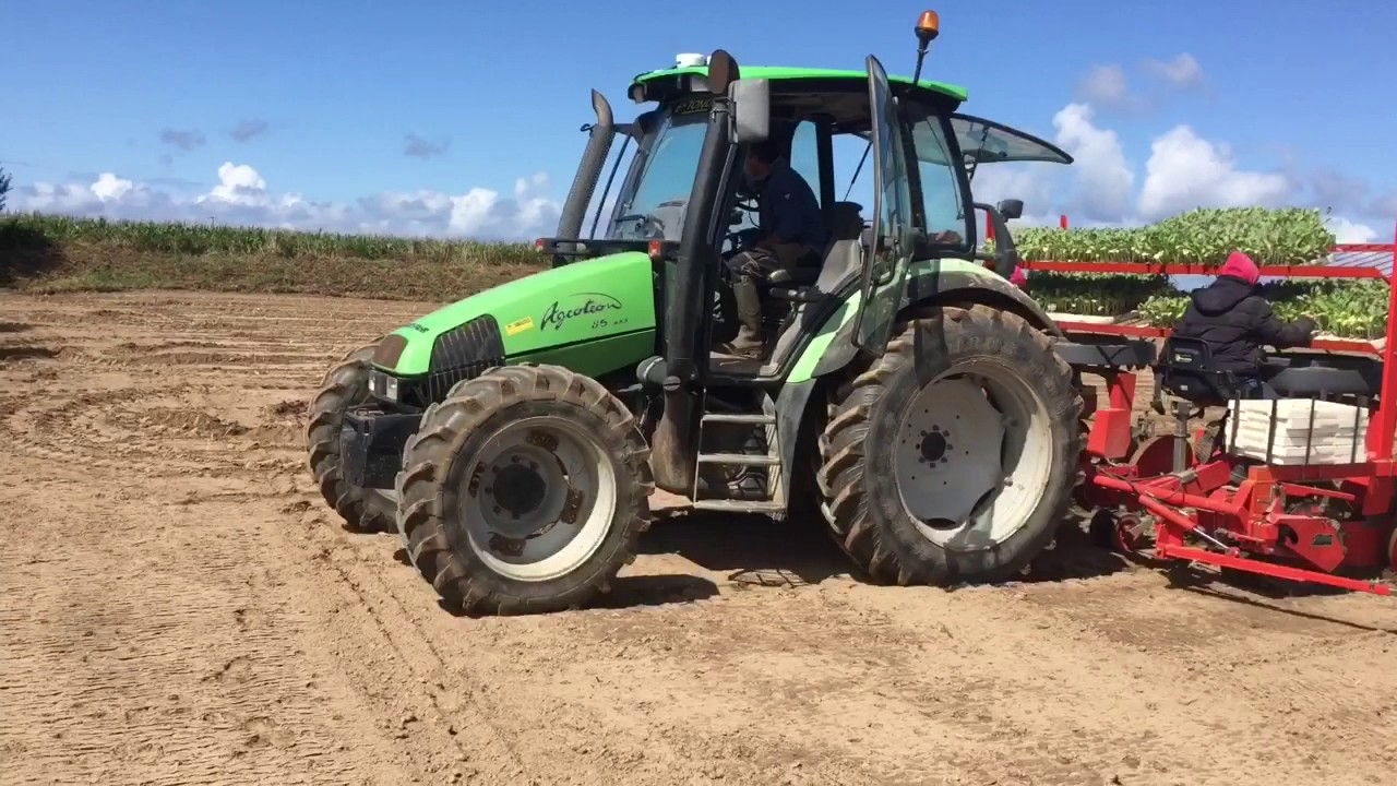Plantation de chou-fleur 2017 autoguidage SBG RAVEN - YouTube