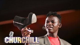 MCA Tricky picks a shoe left by a demonstrating slay queen thumbnail