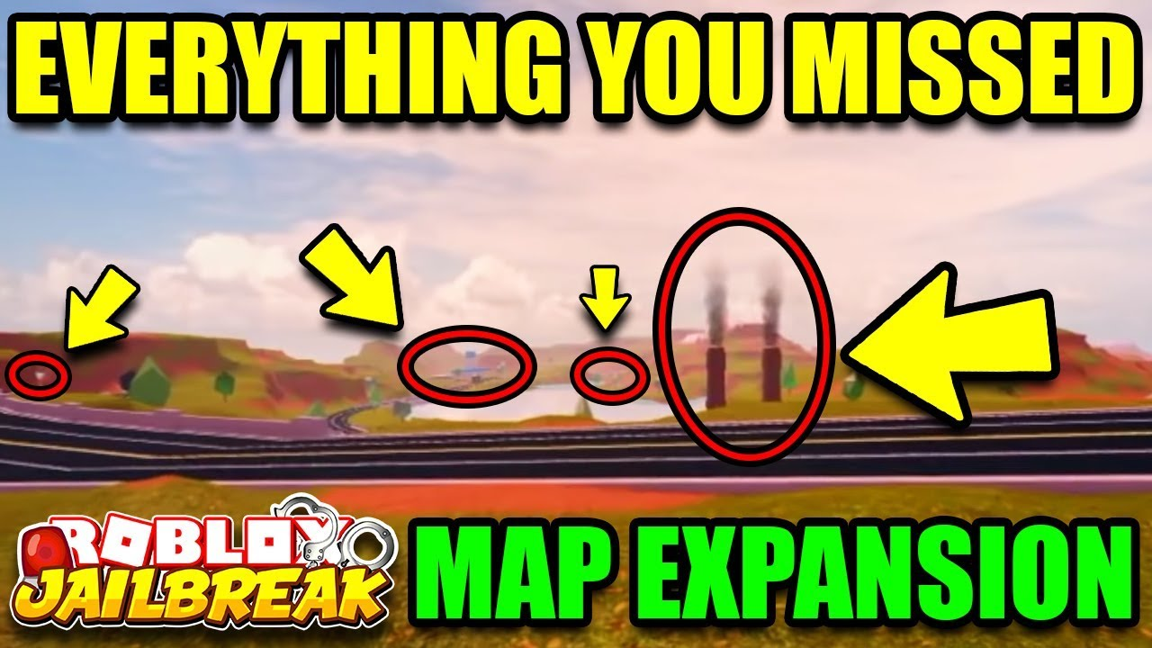All Roblox Jailbreak Map Jailbreak Map Expansion Update Bigger Map Everything You Need To Know Roblox Jailbreak Update Youtube