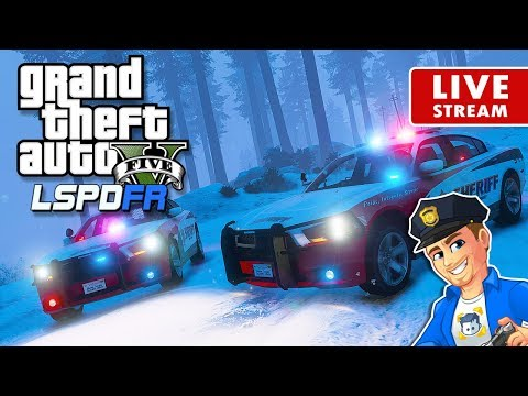 GTA 5 LSPDFR SHERIFF PATROL LIVE Snow Chargers! | GTA 5 LSPDFR Police Mod Realistic Sheriff Patrol