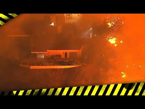 Fires Now Near Getty Center, Bel Air