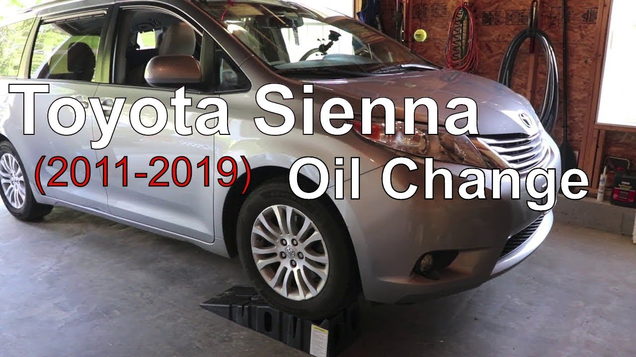 oil capacity for 2011 toyota sienna