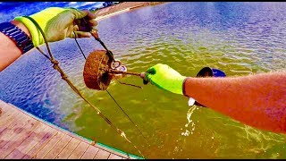 MAGNET FISHING A SEWER WITH A 500 LB PULL MAGNET!!!
