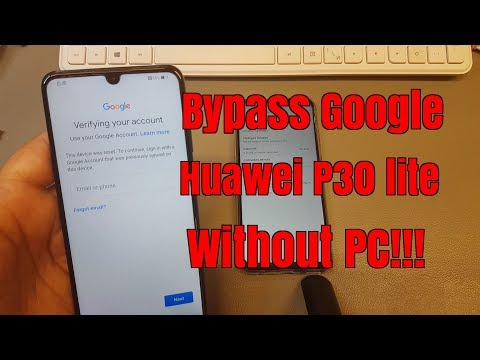 BOOM!!! Huawei P30 lite MAR-LX1A. Remove Google Account,Bypass FRP.