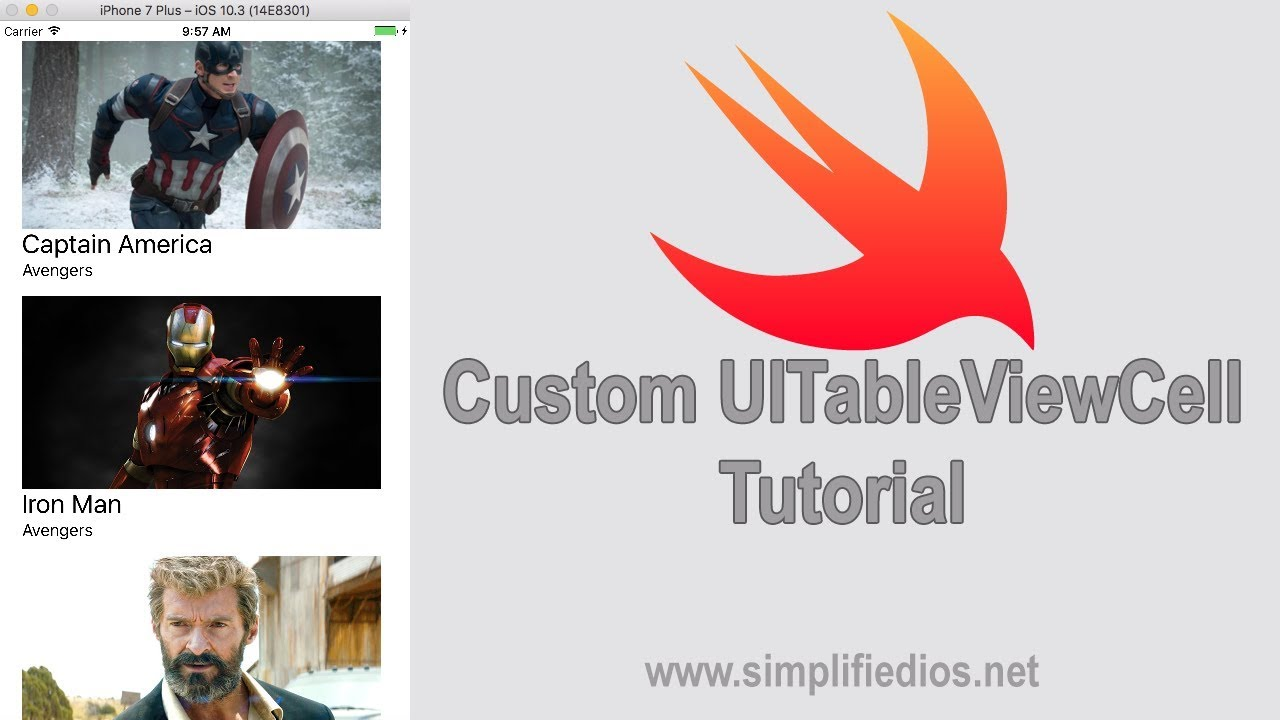 Custom UITableViewCell Tutorial - TableView with Images and