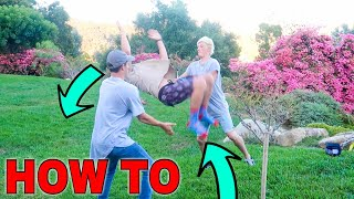 HOW TO BACKFLIP IN UNDER 5 MINUTES! *VLOG*