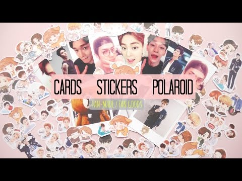 KPOP DIY: CREATE YOUR OWN FAN GOODS OF YOUR FAVORITE GROUP ✰CARDS, STICKERS, POLAROIDS ✰