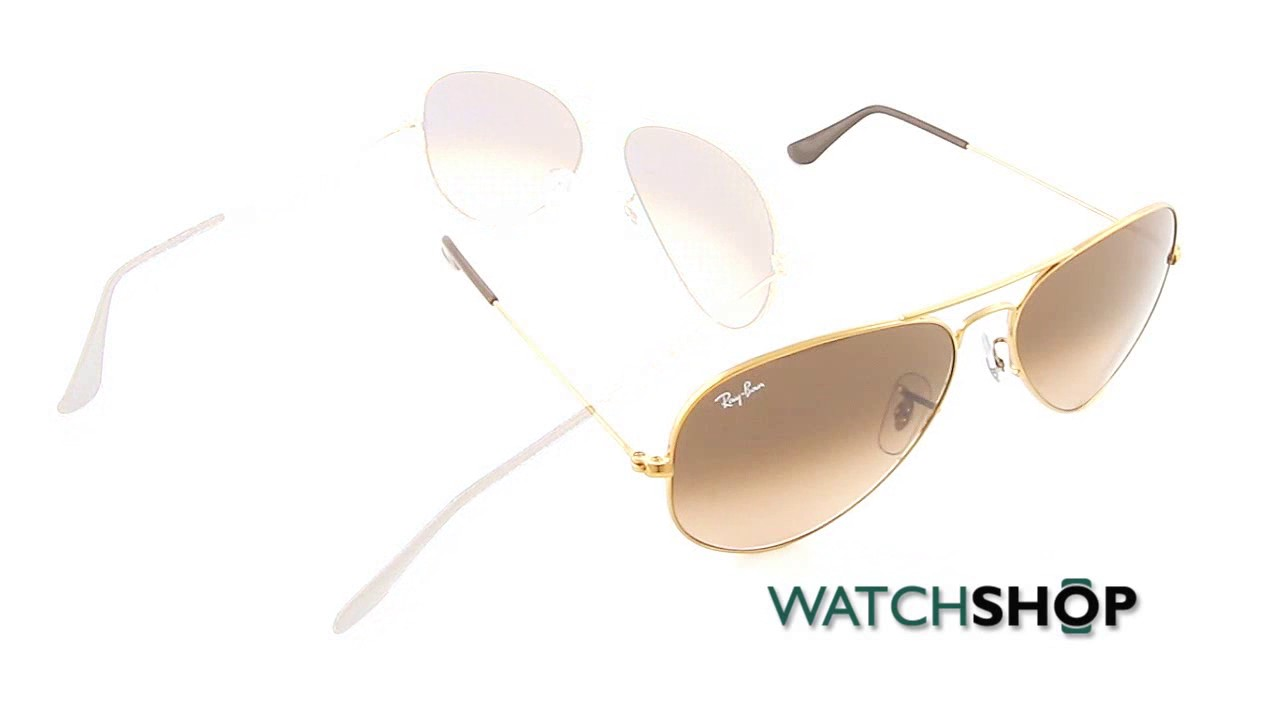 b1cb425e34 Ray-Ban Men s Aviator Gradient Sunglasses (RB3025-9001A5-58) - YouTube