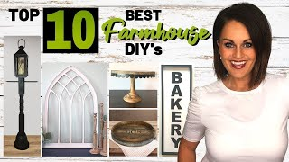 ⭐️absolute Top 10 Best Farmhouse Diy Home Decor Projects On A Budget!