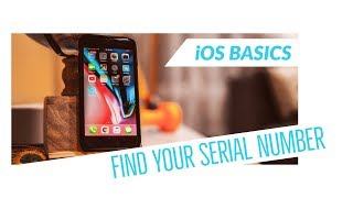 How to Find Your Serial Number - iOS 12 Basics