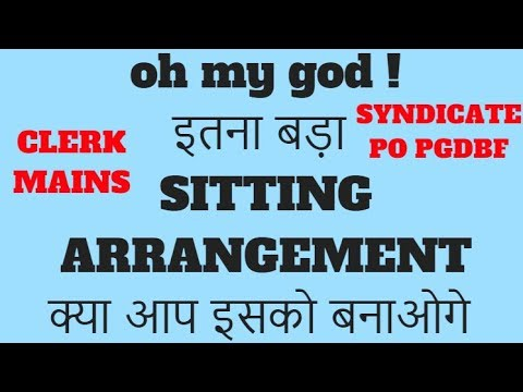 DIFFICULT, TRICKY, LENGTHY SITTING ARRANGEMENT WITH 3 VARIABLES || TRY KARNA TO BANTA HAI