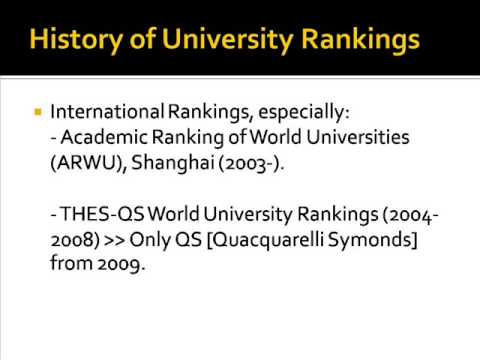 A Short History of University Rankings [UR1]