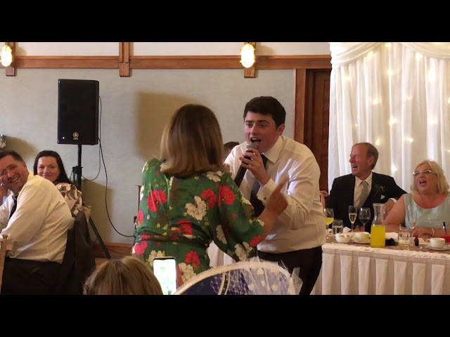 Waiter suddenly falls and as guests run over to help he surprises everyone!