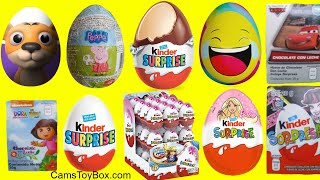 Kinder Chocolate Surprise Eggs DC Super Hero Girls Dora Barbie Peppa Pig Monster High Toys