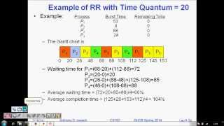 Programming Interview: Round Robin Scheduling Algorithm